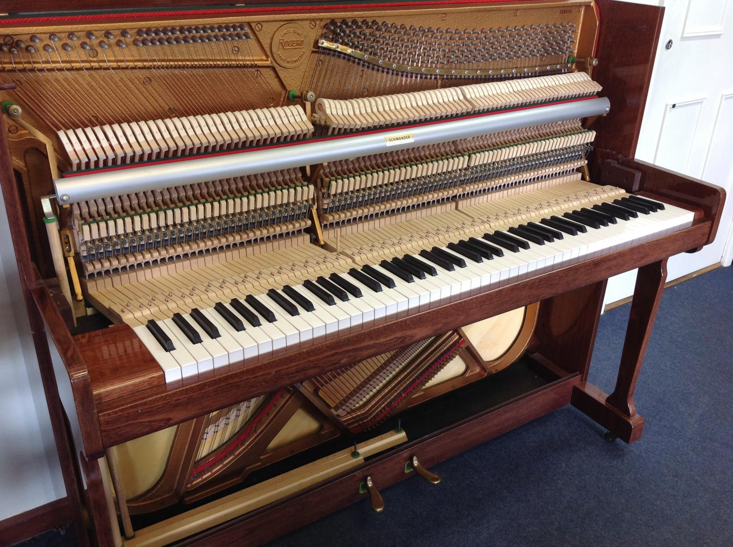 rogers modern upright piano for sale in modern pianos for sale. Black Bedroom Furniture Sets. Home Design Ideas