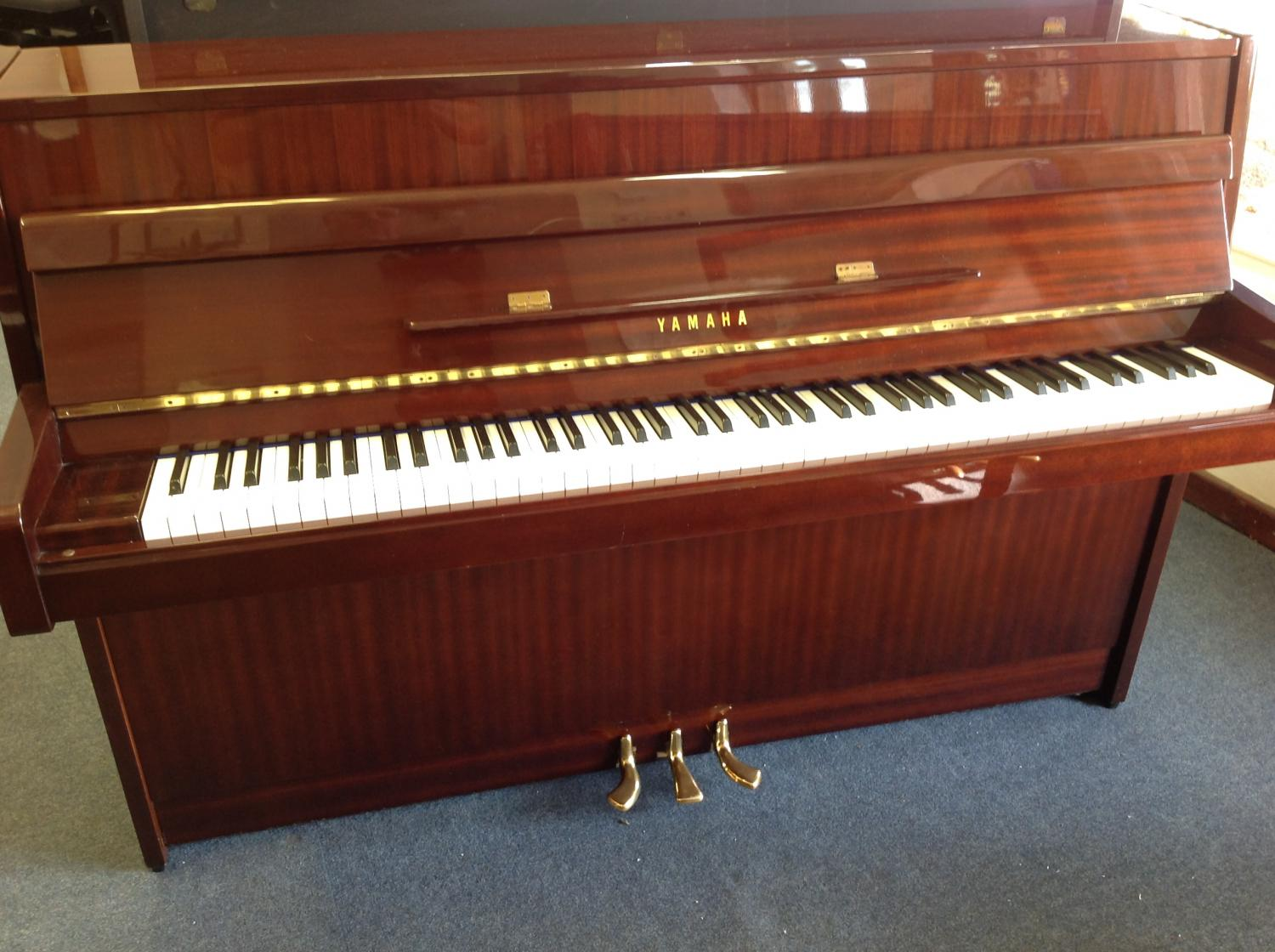 Yamaha modern upright piano for sale in modern pianos for sale for Small upright piano dimensions