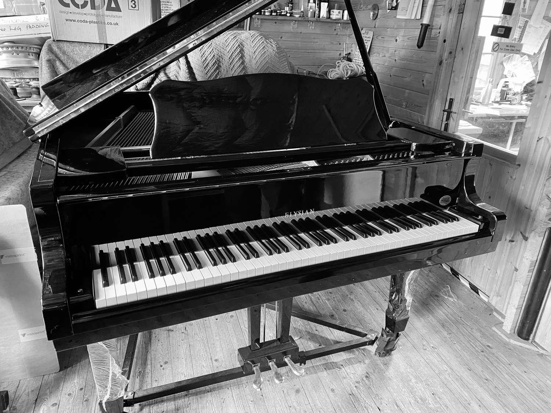 Elysian modern baby grand piano